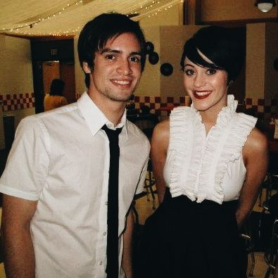 2009 Sarah and Brendon Urie I'm pretty shook this exists like wow