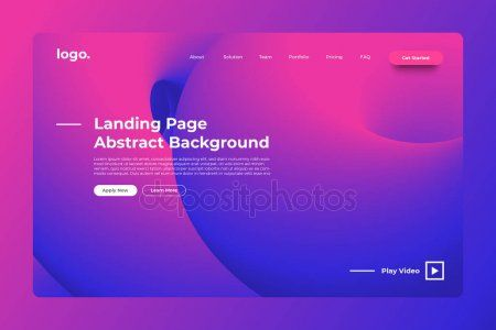 Landing Page Website Mockup Abstract Background Vivid Bright Gradient Dynamic In 2021 Landing Page Website Mockup Abstract