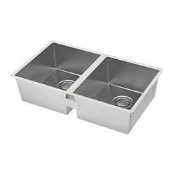 Norrsjon Sink Stainless Steel 21 1 8x17 1 4 Sink Inset Sink