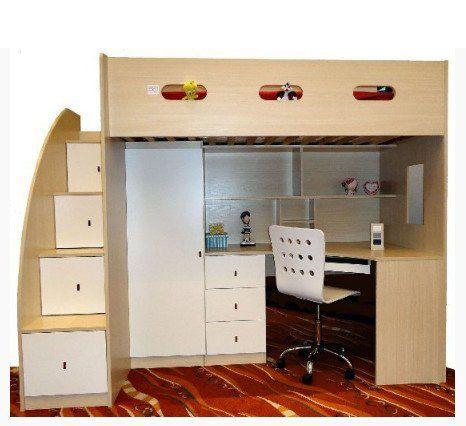 Kids Loft Bed With Desk Drawers Wardrobe Incl Mattress Bunk Bed With Desk Bunk Beds With Stairs Kids Loft Beds
