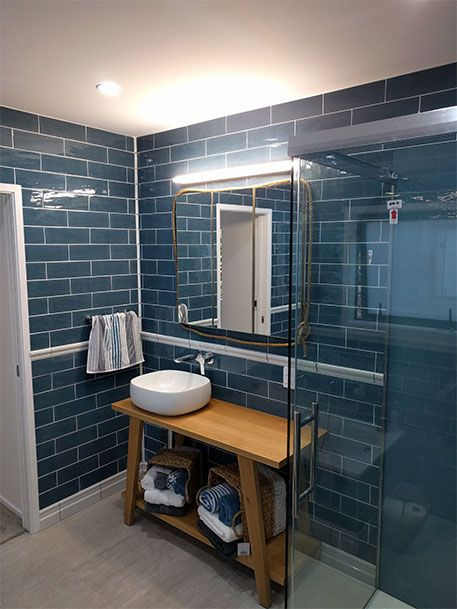 Moody Blues Vs Vibrant Hues Which Style Are You Dark Blue Bathrooms Small Bathroom Paint Colors Small Bathroom Paint