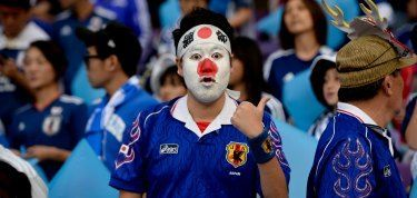 A Japanese Fan At The Semi Final Of Asiancup2019 Against Iran