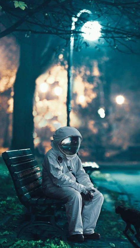 Sad Astronaut iPhone Wallpaper - iPhone Wallpapers
