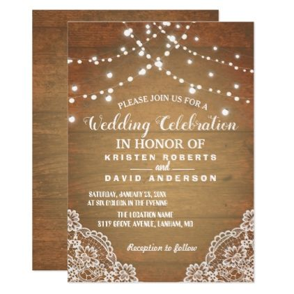 Rustic Baby S Breath Mason Jar Lights Wedding Invitation Zazzle