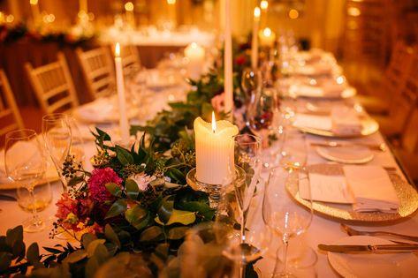 F + G  wedding | Ireland Adare Manor wedding photography | Wedding Reception Decoration with Romantic Candles  | London wedding photographer
