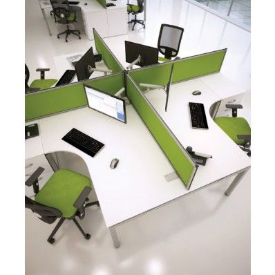 green office desk. bench2 fixed top 4 way cluster team desk office call centre study pods pinterest desks and partitions green u