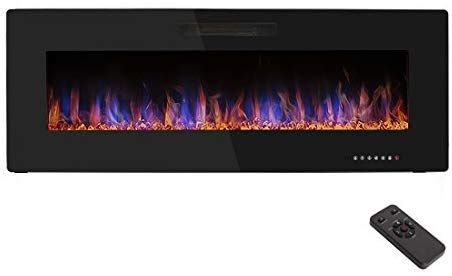 Amazon Com R W Flame 50 Electric Fireplace Recessed Wall