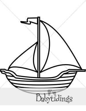 Boat Clipart Black And White : clipart, black, white, Black, White, Clipart, Beach, Clipart,, Drawing