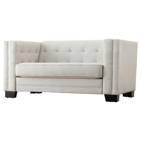 Wondrous Flatiron Tufted Loveseat Smoke Inspire Q White Beatyapartments Chair Design Images Beatyapartmentscom