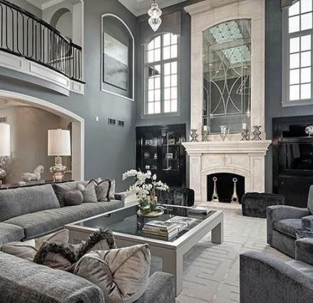 59 Ideas Living Room Luxury Classic Gray Livingroom In 2020