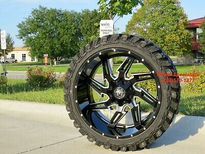 Advertisement Ebay 24x12 Inch Black Wheels 35 Mt Tires Package