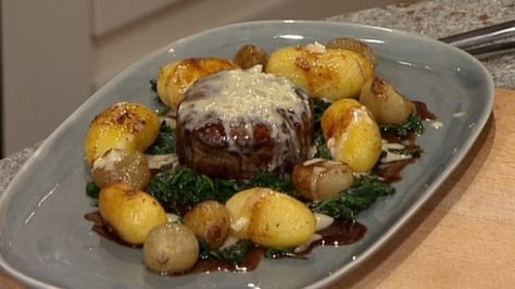 Try this delicious beef fillet with spinach and potatoes from Celebrity Masterchef winner and former England rugby captain, Phil Vickery, who took on our resident chef, Phil Vickery!