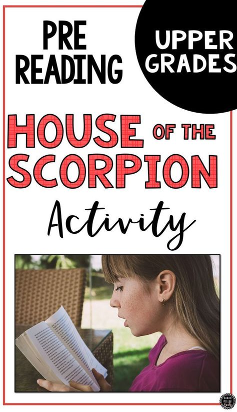 The House Of The Scorpion Pre Read Activity Reading Activities Student Encouragement Middle School Ela Activities