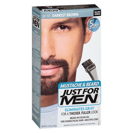 Just For Men Brush-In Color Gel For Mustache & Beard, Deep ...