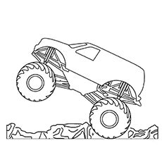 10 Wonderful Monster Truck Coloring Pages For Toddlers Truck Coloring Pages Monster Trucks Monster Truck Coloring Pages