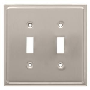 Liberty Country Fair Decorative Single Duplex Outlet Cover Satin Nickel 126362 The Home Depot Plates On Wall Franklin Brass Liberty Hardware