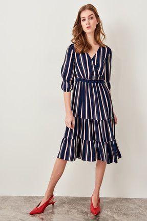 Trendyolmilla Elbise Modelleri Fiyatlari Trendyol Elbise Cizgili Elbise The Dress