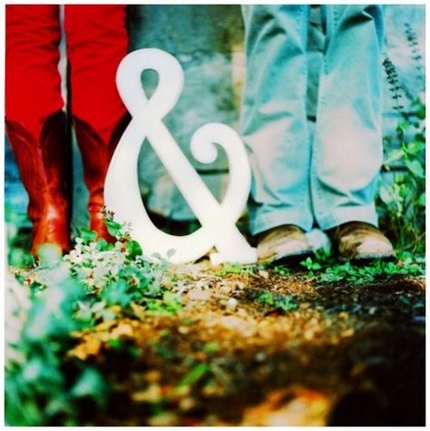 Engagement Picture Ideas -- Gotta find one of these giant ampersands.