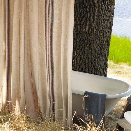 Coyuchi Organic Rustic Linen Shower Curtain Photo