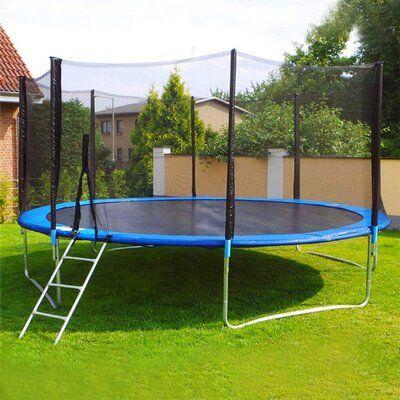 Kerrogee Kerrogee Round Backyard Trampoline With Safety Enclosure Wayfair In 2020 Garden Trampoline Backyard Trampoline Outdoor Trampoline