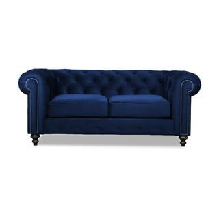 Patrick Chesterfield European Velvet Button Tufted Sofa
