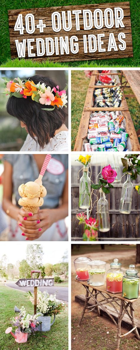 simple outdoor wedding ideas for summer%0A    Stunning DIY Rustic Wedding Decorations   Diy rustic weddings   Decoration and DIY ideas