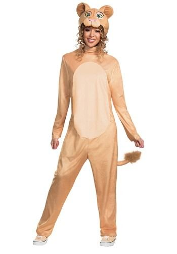 Mens Lion King Costume Adult Jumpsuit Animal Zoo Party Simba Book Week Outfits