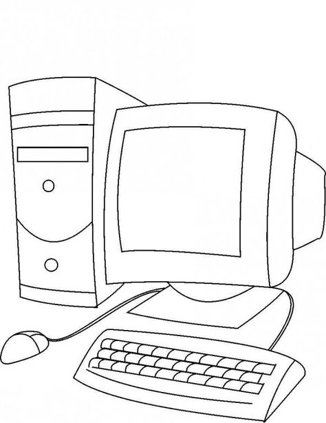 Dibujos De Computadoras Para Imprimir Y Pintar Colorear Imagenes