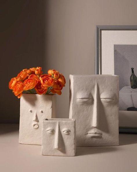 🎉🎉🎉 • Descripción del producto: -Vasos minimalistas cerámicos hechos a mano. -Ideal para la decoración de la sala de estar o la decoración del hogar y la oficina. -Muy elegante, añade un bonito aspecto a su hogar. -Es un excelente regalo, se puede utilizar como regalo de Navidad, regalo de