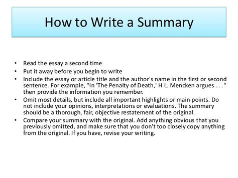 how do you write an essay summary How to write a descriptive essay when you write your essay  the conclusion paragraph makes a summary of the entirety of your essay.