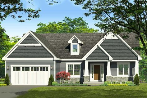 Traditional Style House Plan 42618 With 3 Bed 2 Bath 2 Car Garage Craftsman House Dream House Plans House Floor Plans