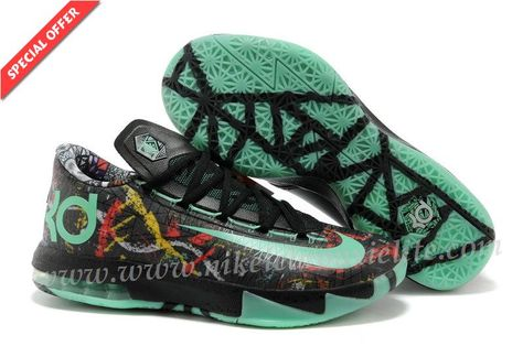 low priced 93cad de4ad New Multi-Color   Green Glow-Black Nike KD VI ILLUSION All Star
