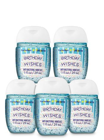 Birthday Wishes Pocketbac Hand Sanitizers 5 Pack Bath And Body