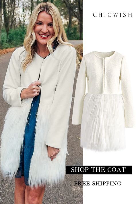 635986de2a Free Shipping   Easy Return. Up to 30% Off. Winter Essential Faux Fur Coat  featured by ashleyrsavage Winter holiday Outfit Ideas. Wedding outfit  ideas. Shop ...