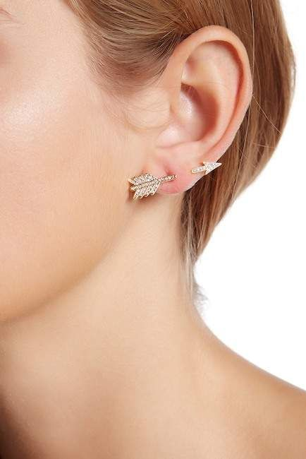 Sterling Forever Cz Arrow Earrings Products In 2019