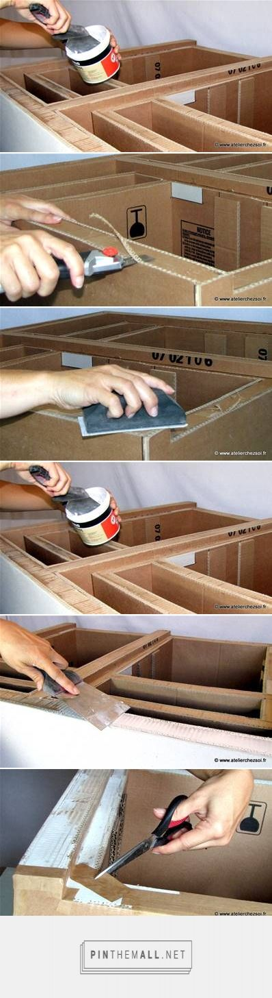 DIY Cardboard Chest with Drawers Are you kidding me!? Who makes - que faire des meubles apres un deces