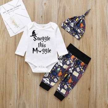 JiAmy Baby Cotton Romper Jumpsuit Boys Girls Long Sleeve Outfits Newborn Cartoon Print Bodysuit
