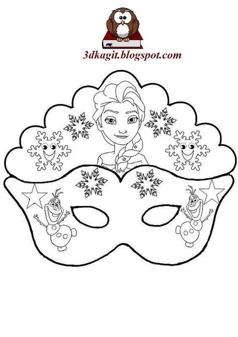 Frozen Elsa Maskeleri Maskeler Boyama Sayfalari Ve 3d Kagit