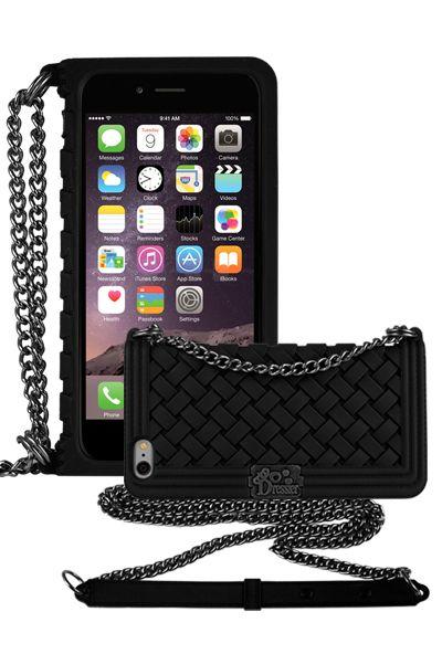 buy online 829f5 3f1ae Dressier Braid Purse Wallet Design Case for iPhone 6 Plus 5.5 BLACK ...