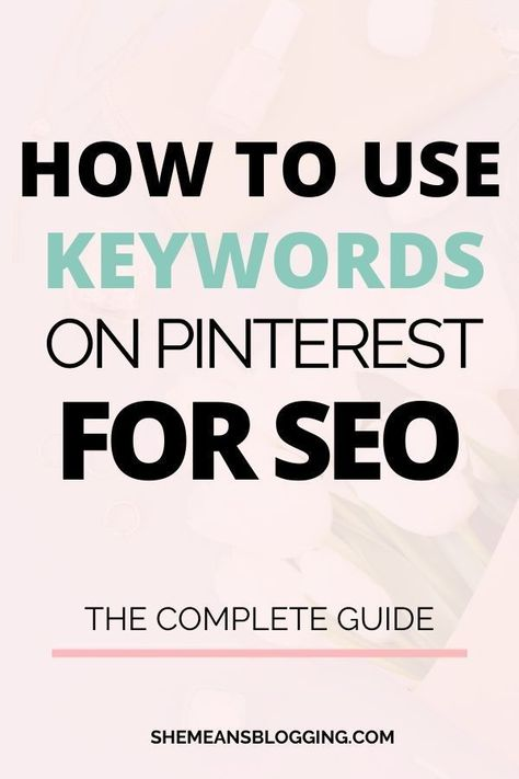 Top 9 places to use keywords on pinterest for traffic and ranking