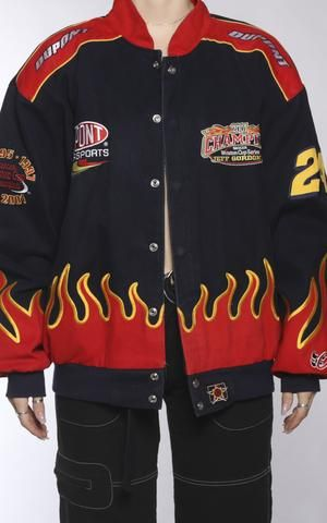 Pin By Clowntownn On Race In 2020 Vintage Racing Jacket Jackets Clothes