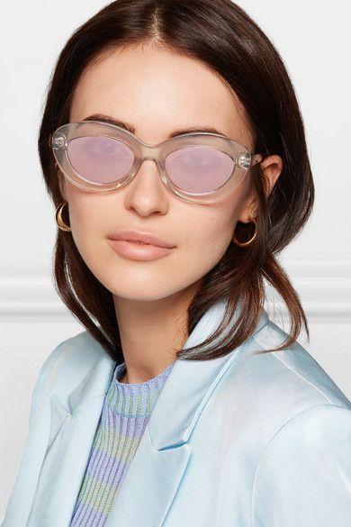 738b6df04e84 Le Specs - Fluxus Cat-eye Acetate Sunglasses - White | eyewear ...