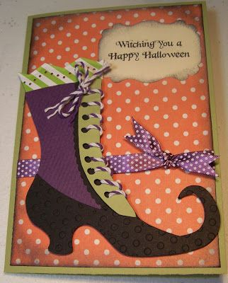 Witching you a Happy Halloween... card using Cricut Happy Hauntings cartridge.