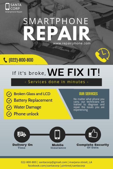 Smart Phone Repair Flyer Smartphone Repair Phone Repair Ipad Repair