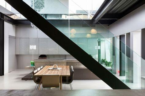 Interieur aus Beton und Aluminium – Urbaner Einrichtungsstil ...