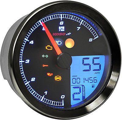 Koso North America Koso Tnt B Multi Function Gauge Black Ba051310 48 2372 Yamaha Bolt Yamaha Tachometer