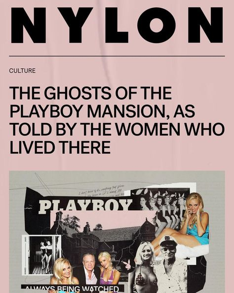 """Bridget Marquardt on Instagram: """"👻Ghosts of the Playboy Mansion! 👻 Article in @nylonmag today featuring myself, @hollymadison and @realmrmayhem! I will link it in my story!"""""""