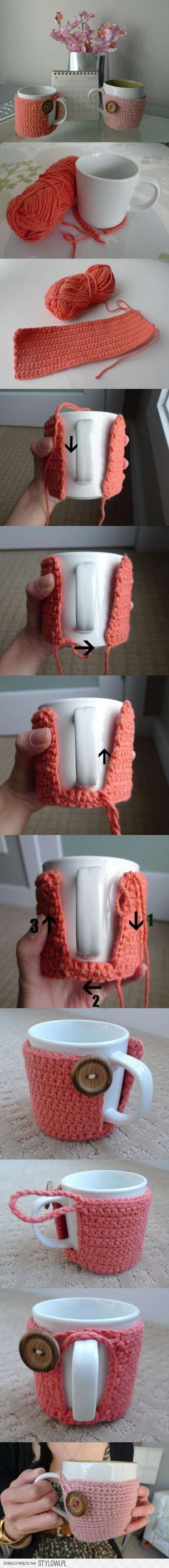 copri tazza all'uncinetto