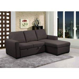 Primo Nunzio Convertible Sectional In Dark Grey Sectional Sectional Sofa Sofa Sale