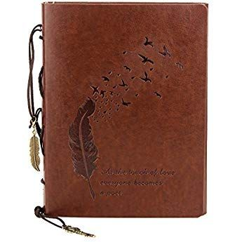 Buch Notizbuch Tagebuch Reisetagebuch DIN A5 Braun Leder